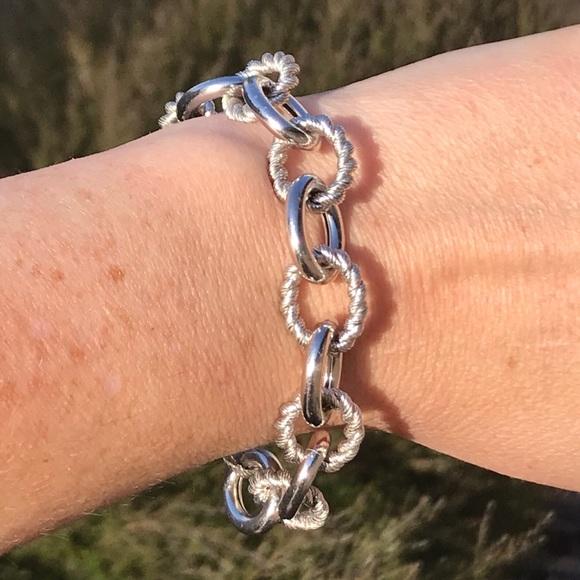 e02e3c3d588ae Judith Ripka Sterling Silver Rolo Link Bracelet